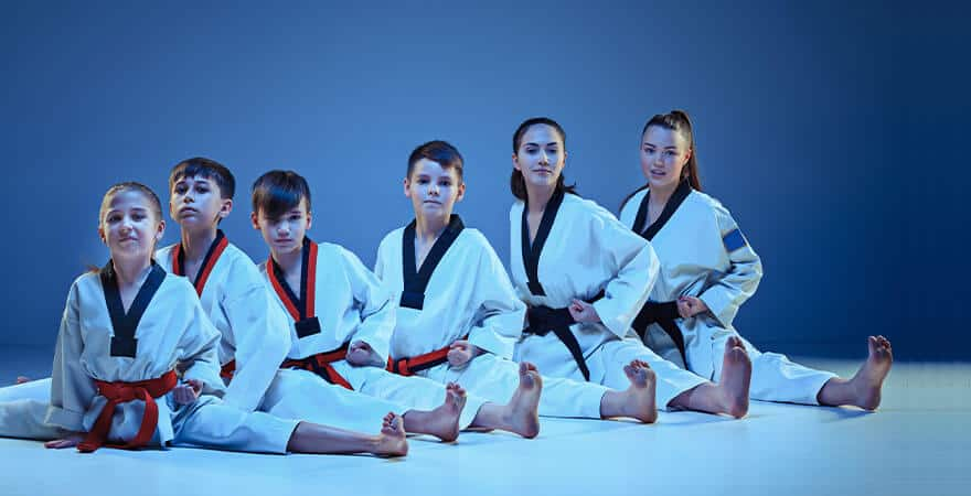Martial Arts Lessons for Kids in Hillsborough NJ - Kids Group Splits