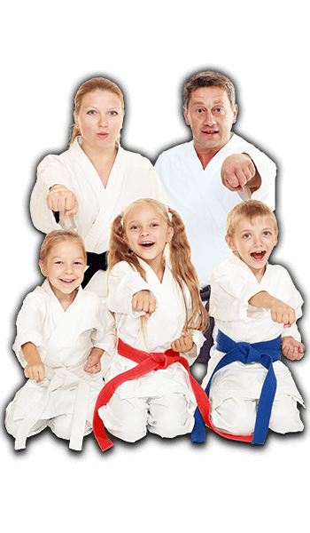 Martial Arts Lessons for Families in Hillsborough NJ - Sitting Group Family Banner