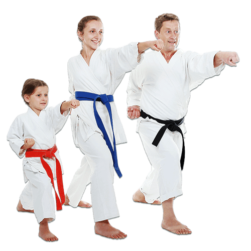 Martial Arts Lessons for Families in Hillsborough NJ - Man and Daughters Family Punching Together