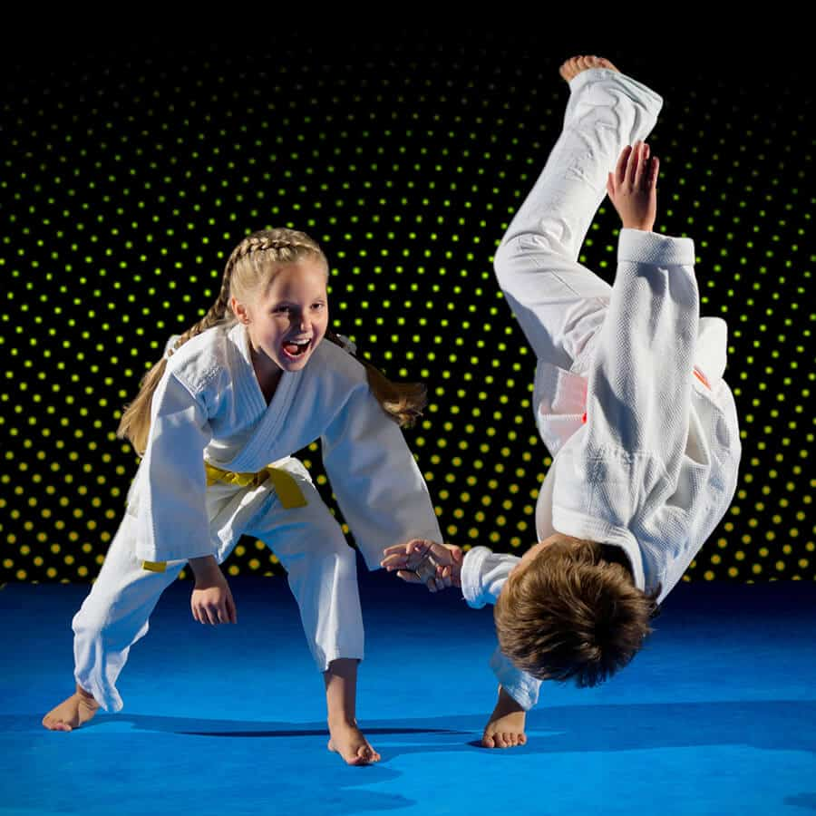 Martial Arts Lessons for Kids in Hillsborough NJ - Judo Toss Kids Girl
