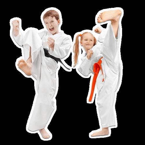 Martial Arts Lessons for Kids in Hillsborough NJ - Kicks High Kicking Together