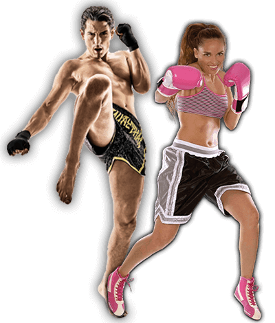 Fitness Kickboxing Lessons for Adults in Hillsborough NJ - Kickboxing Men and Women Banner Page