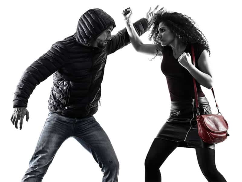 Self-Defense Program for Adults in Hillsborough NJ - Blocking Punch Woman
